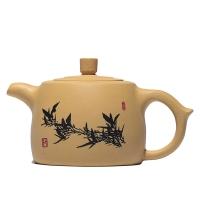 Глиняный чайник цзин лань желтый