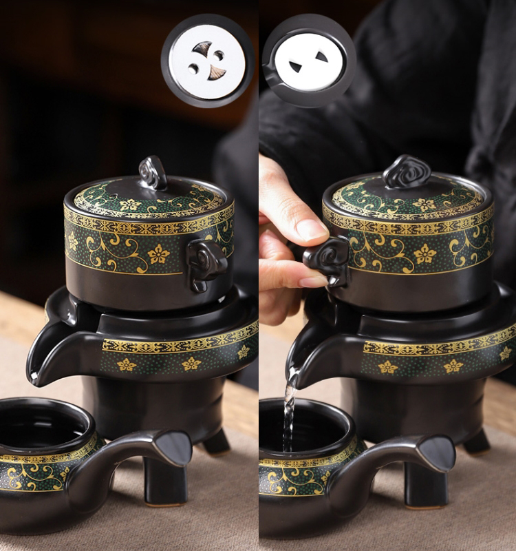 Набор для чай ленивый, принцип работы